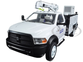 Dodge Ram 5500 Komatsu with Maintainer Service Body White 1/34 Diecast Model Car First Gear 10-4060A