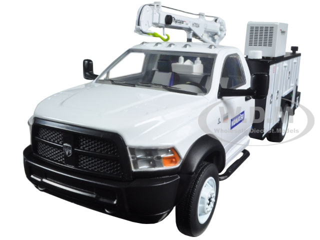RAM 5500 Komatsu with Maintainer Service Body White 1/34 Diecast Model Car First Gear 10-4060A