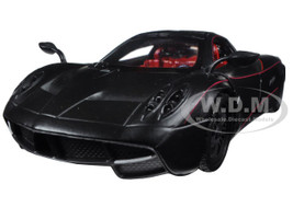 Pagani Huayra Matt Black 1/24 Diecast Model Car Motormax 79502
