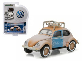 1948 Volkswagen Type 1 Split Window Beetle Primer Grey with Roof Rack and Patina 1/64 Diecast Model Car Greenlight 29840 A
