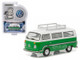 1977 Volkswagen Type 2 Bus (T2B) Sumatra Green with Roof Rack and Stripes 1/64 Diecast Model Car Greenlight 29840 F