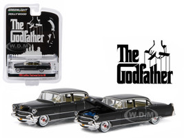1955 Cadillac Fleetwood Series 60 Special Black The Godfather 1972 Movie Hollywood Series Release 14 1/64 Diecast Model Car Greenlight 44740 B