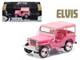 """1960 Jeep Surrey CJ3B """"Pink Jeep"""" Elvis Presley (1935-1977) 1/43 Diecast Model Car Greenlight 86472"""