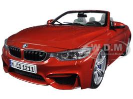 BMW M4 Cabrio Orange 1/18 Diecast Model Car Paragon 97111