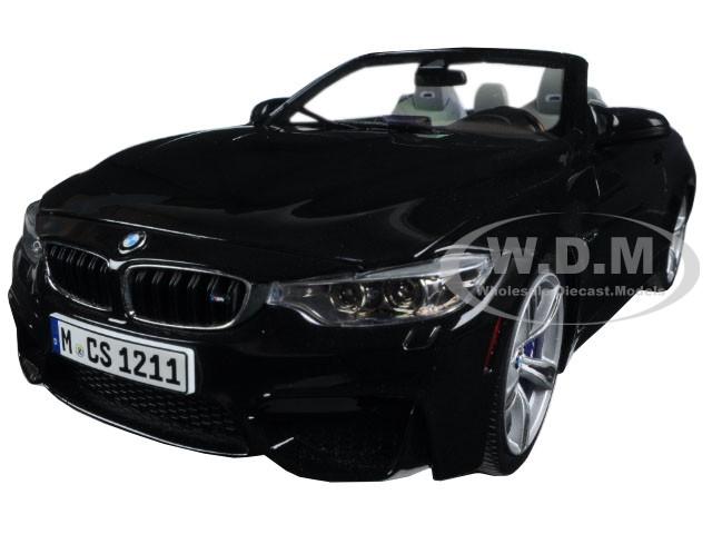BMW M4 Cabrio Black 1/18 Diecast Model Car Paragon 97112