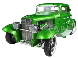 1932 Ford Grand National Deuce Series #6 Green Metallic Limited Edition to 996pcs 1/18 Diecast Model Car Acme A1805011