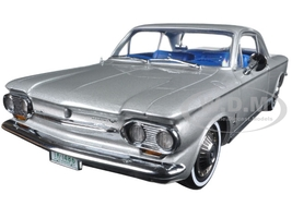 1963 Chevrolet Corvair Coupe Satin Silver 1/18 Diecast Model Car Sunstar 1486