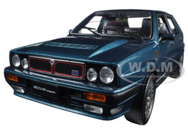 1989 Lancia Delta HF Integrale 16V Blue 1/18 Diecast Model Car Sunstar 3152