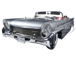 1958 Lincoln Continental MK III Open Convertible Silver/Gray Platinum Edition 1/18 Diecast Model Car Sunstar 4706