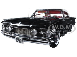 1959 Oldsmobile 98 Closed Convertible Polaris White and Ebony Black Platinum Edition 1/18 Diecast Model Car Sunstar 5234