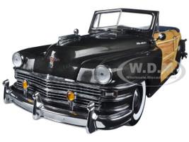 1948 Chrysler Town And Country Gunmetal Gray 1/18 Diecast Model Car Sunstar 6141