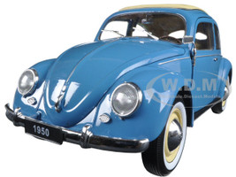 1950 Volkswagen Classic Old Beetle Split Window Blue 1/18 Diecast Model Car Welly 18040
