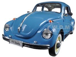 Volkswagen Old Beetle Hard Top Light Blue 1/24 Diecast Model Car Welly 22436