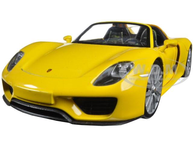 Porsche 918 Spyder Yellow Open Roof 1 24 Diecast Model Car Welly 24055