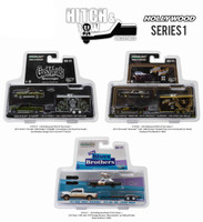 Hollywood Hitch & Tow Series 1 Set of 3 1/64 Diecast Model Cars Greenlight 31010