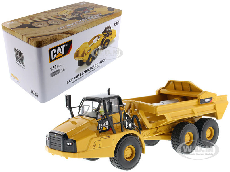 CAT Caterpillar 740B EJ Articulated Truck with Operator High Line Series 1/50 Model Diecast Masters 85500
