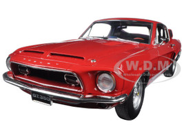 1968 Ford Shelby Mustang GT 350 Red WT Color Code 4017 Release #4 Limited Edition 1/18 Diecast Model Car by Acme A1801808