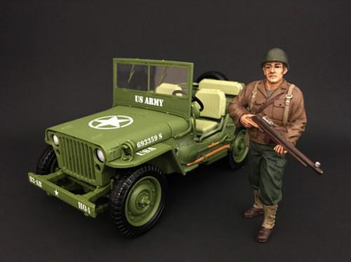 US Army WWII Figure II For 1:18 Scale Models American Diorama 77411