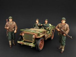 US Army WWII 4 Piece Figure Set For 1:18 Scale Models American Diorama 77410,77411,77412,77413
