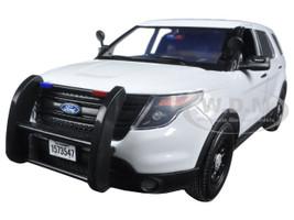 2015 Ford PI Police Utility Interceptor Slick Top White 1/18 Diecast Model Car Motormax 73547