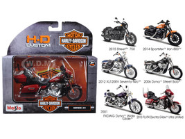 Harley Davidson Motorcycle 6pc Set Series 34 1/18 Diecast Models Maisto 31360-34