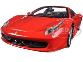 Ferrari 458 Spider Red 1/24 Diecast Model Car Bburago 26017