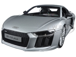 Audi R8 V10 Plus Silver 1/18 Diecast Model Car Maisto 36213