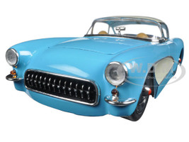 1957 Chevrolet Corvette Blue 1/24 Diecast Model Car Jada 98162