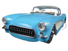 1957 Chevrolet Corvette Blue 1/24 Diecast Model Car Jada 98162