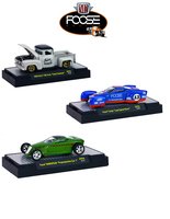Chip Foose Release 3, 3 Cars Set WITH CASES 1/64 Diecast Model Cars M2 Machines 32600-CF03