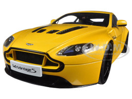 2015 Aston Martin V12 Vantage S Yellow Tang 1/18 Diecast Model Car Autoart 70252