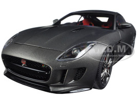 2015 Jaguar F-Type R Coupe Matt Grey 1/18 Model Car Autoart 73654