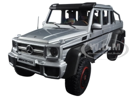 Mercedes G63 AMG 6X6 Silver 1/18 Model Car Autoart 76301