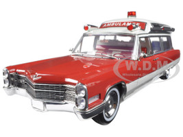 1966 Cadillac S&S 48 High Top Ambulance Precision Collection  1/18 Diecast Model Car by Greenlight 18003
