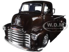 "1952 Chevrolet COE Pickup Truck Brown ""Just Trucks"" with Extra Wheels 1/24 Diecast Model Car Jada 98021"