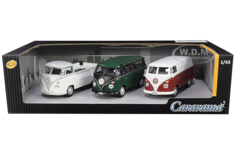Volkswagen Buses 3 piece Gift Set 1/43 Diecast Model Cars Cararama 35308