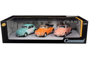 Volkswagen Beetle 3 piece Gift Set 1/43 Diecast Model Cars Cararama 35309