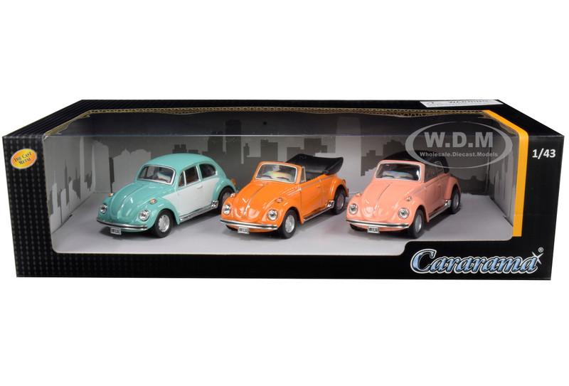 Volkswagen Beetle 3 piece Gift Set 1/43 Diecast Model Cars Cararama 35309