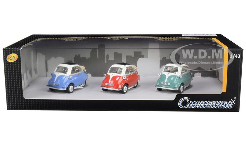 BMW Isetta 3 piece Gift Set 1/43 Diecast Model Cars Cararama 35317