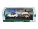 Volkswagen Beetle #53 with Caravan III Trailer in Display Case 1/43 Diecast Model Car Cararama 14811