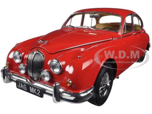 1962 Jaguar Mark 2 3.8 Carmen Red Left Hand Drive 1/18 Diecast Model Car Paragon 98322