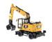CAT Caterpillar M318F Wheeled Excavator with Operator High Line Series 1/50 Diecast Model Diecast Masters 85508