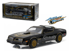 "1977 Pontiac Trans Am Black ""Smokey and the Bandit"" Movie 1/24 Diecast Model Car Greenlight 84013"