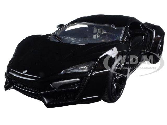 Lykan Hypersport Glossy Black 1/24 Diecast Model Cars Jada 98074