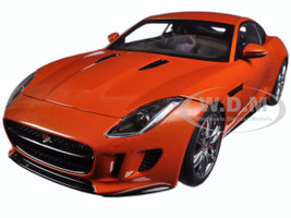 2015 Jaguar F-Type R Coupe Firesand Metallic Orange 1/18 Model Car Autoart 73653