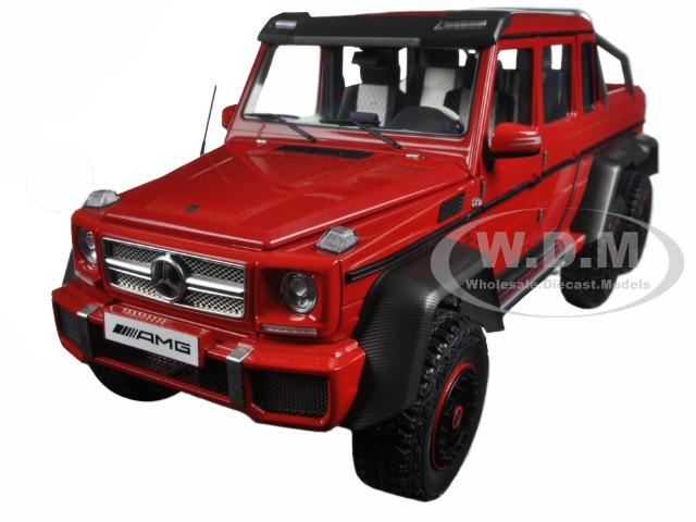 mercedes g63 amg 6x6 red 1/18 model car autoart 76304