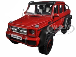 Mercedes G63 AMG 6X6 Red 1/18 Model Car Autoart 76304