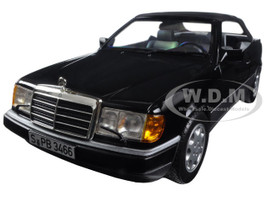 1990 Mercedes 300 CE 24 Cabriolet Black 1/18 Diecast Model Car Norev 183566