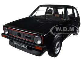 1976 Volkswagen Golf GTi Black 1/18 Diecast Model Car Norev 188487
