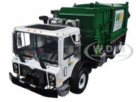 Mack TerraPro Waste Management Garbage Truck with Side Load Refuse with Carts 1/34 Diecast Model First Gear 10-4004A